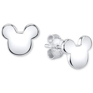 Mickey Mouse Stud Earrings in Sterling Silver